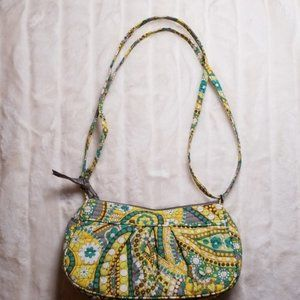 Vera Bradley lemon Parfaid frannie zip crossbody